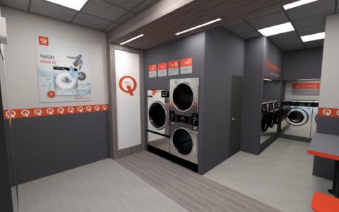 Interiér prádelny